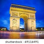 arc de triomphe  arch of... | Shutterstock . vector #69116491