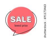 minimal style flat speech... | Shutterstock .eps vector #691173463