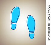 imprint soles shoes sign.... | Shutterstock .eps vector #691179727