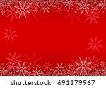 christmas background  vector | Shutterstock .eps vector #691179967