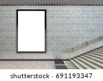 blank vertical billboard poster ... | Shutterstock . vector #691193347