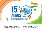 indian independence day on... | Shutterstock .eps vector #691195207