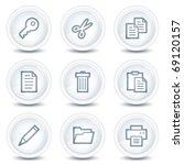 document web icons set 1  white ...