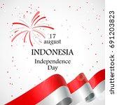 17 august. indonesia happy... | Shutterstock .eps vector #691203823