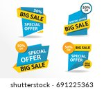colorful shopping sale banner... | Shutterstock .eps vector #691225363