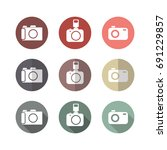 camera flat icons  isolate on...   Shutterstock .eps vector #691229857