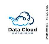 data cloud   Shutterstock .eps vector #691231207