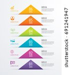 6 triangle timeline infographic ... | Shutterstock .eps vector #691241947