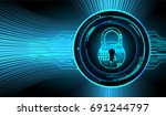 safety concept  closed padlock...   Shutterstock .eps vector #691244797