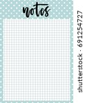 cute a4 template for notes with ... | Shutterstock .eps vector #691254727