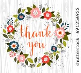 hand drawn illustration with... | Shutterstock . vector #691256923