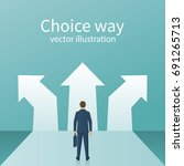 choice way concept. decision...
