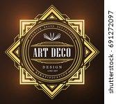 art deco vintage badge logo... | Shutterstock .eps vector #691272097