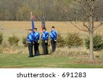 color guard  burial of military ... | Shutterstock . vector #691283