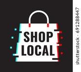 shop local. vector icon... | Shutterstock .eps vector #691288447