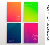 set of cards with blend liqud... | Shutterstock .eps vector #691304287