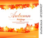 collection of autumn sale and... | Shutterstock .eps vector #691304437