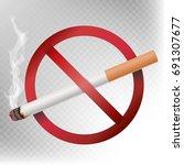 no smoking sign vector.... | Shutterstock .eps vector #691307677