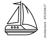 sail yacht icon | Shutterstock .eps vector #691310617