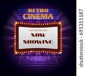 retro hollywood cinema 3d... | Shutterstock .eps vector #691311187