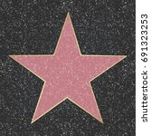 fame star  with gradient mesh ... | Shutterstock .eps vector #691323253