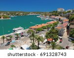 Small photo of Gulf, embankment and city. Maon, Menorca, Spain
