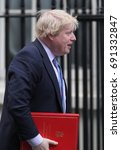 Small photo of LONDON - FEB 28, 2017: Boris Johnson Secretary of State for Foreign and Commonwealth Affairs attends a cabinet meeting at 10 Downing Street in London