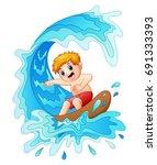 vector illustration of kids... | Shutterstock .eps vector #691333393