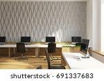 gray diamond wall pattern... | Shutterstock . vector #691337683