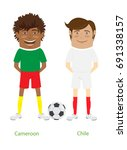 2017  cup  chile  cameroon team'... | Shutterstock . vector #691338157