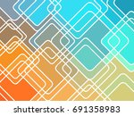 abstract geometric mosaic... | Shutterstock .eps vector #691358983