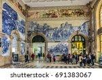 porto  portugal   april 16 ... | Shutterstock . vector #691383067