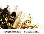 background with black and gold... | Shutterstock . vector #691383553