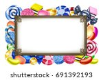 classic candy sweets arranged... | Shutterstock .eps vector #691392193