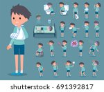 set of various poses of flat... | Shutterstock .eps vector #691392817