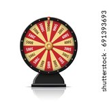fortune wheel with glowing... | Shutterstock .eps vector #691393693