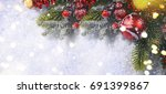 christmas background  | Shutterstock . vector #691399867