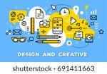 vector illustration of set of... | Shutterstock .eps vector #691411663