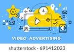 vector illustration of video...   Shutterstock .eps vector #691412023