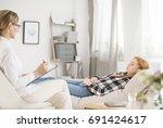 mental health concept   patient ...   Shutterstock . vector #691424617