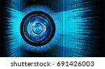 future technology  blue cyber...   Shutterstock .eps vector #691426003