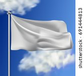 clean white horizontal waving... | Shutterstock .eps vector #691444813