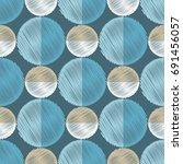 polka dot seamless pattern.... | Shutterstock .eps vector #691456057