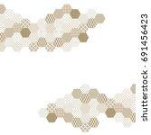 japanese pattern background... | Shutterstock .eps vector #691456423