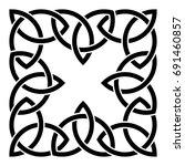 celtic pattern. element of... | Shutterstock .eps vector #691460857