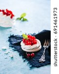 meringue red currant tartlet 03 | Shutterstock . vector #691461973