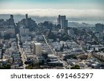 aerial view of san francisco... | Shutterstock . vector #691465297