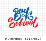 back to school hand drawn... | Shutterstock .eps vector #691475527