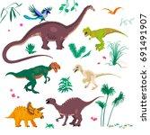 vector illustrations set of... | Shutterstock .eps vector #691491907