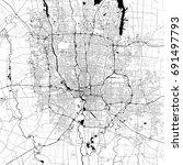 columbus monochrome vector map. ... | Shutterstock .eps vector #691497793